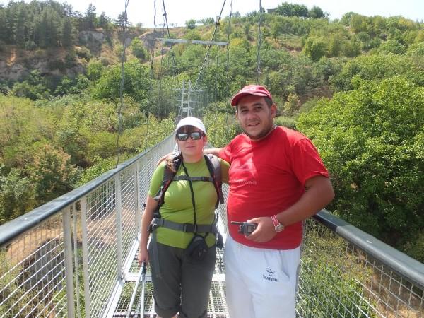 Мы с Давидом на мосту