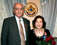 Разведчик Геворг Варданян и его жена Гоар