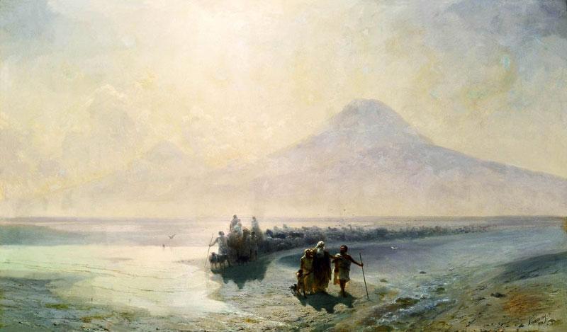 """Картина Айвазовского """"Сошествие Ноя с Арарата"""""""