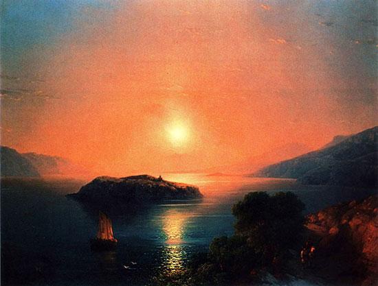 Картина Айвазовского - Севан
