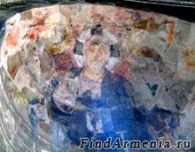 Фреска на стене монастыря