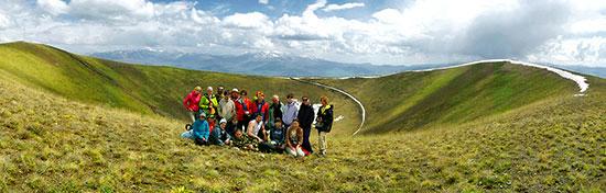 На кратере вулкана Вайоц Сар